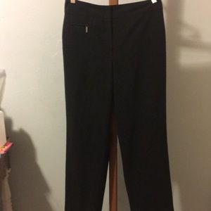 Larry Levine Petite Stretch Black Pants Size 6P